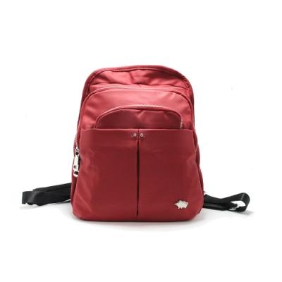 DRAKA 達卡 - 俐落雅致系列-多層次拉鍊後背包-紅