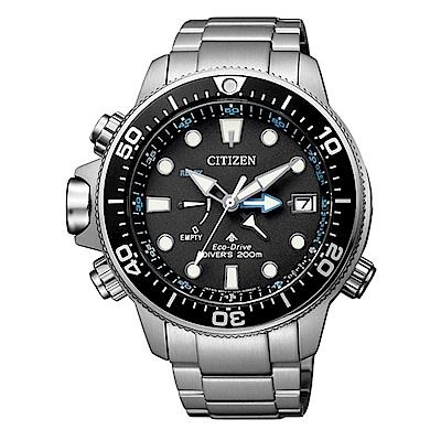 CITIZEN 星辰 PROMASTER 潛水計時三眼腕錶 BN2031-85E