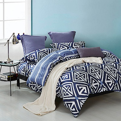 夢工場 萬千幻影天絲頂規款兩用被鋪棉床包組-雙人