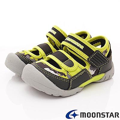 日本月星頂級童鞋 運動護趾涼鞋 ON446黑(中小童段)