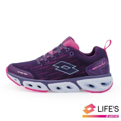 LOTTO 義大利 女 AIR FLOW 4.0  風動跑鞋 (紫)
