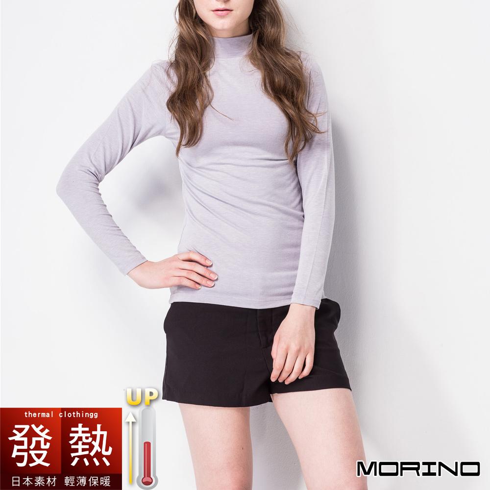 發熱衣 發熱長袖半高領衫(女) 灰色 MORINO