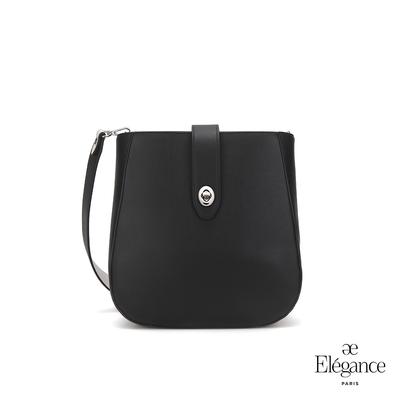 【Elegance】EUDORA 轉鎖側背包-黑色