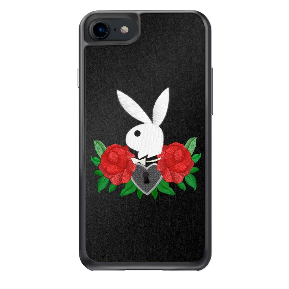 Playboy iPhone 7 精品手機防摔保護殼-玫瑰刺繡款