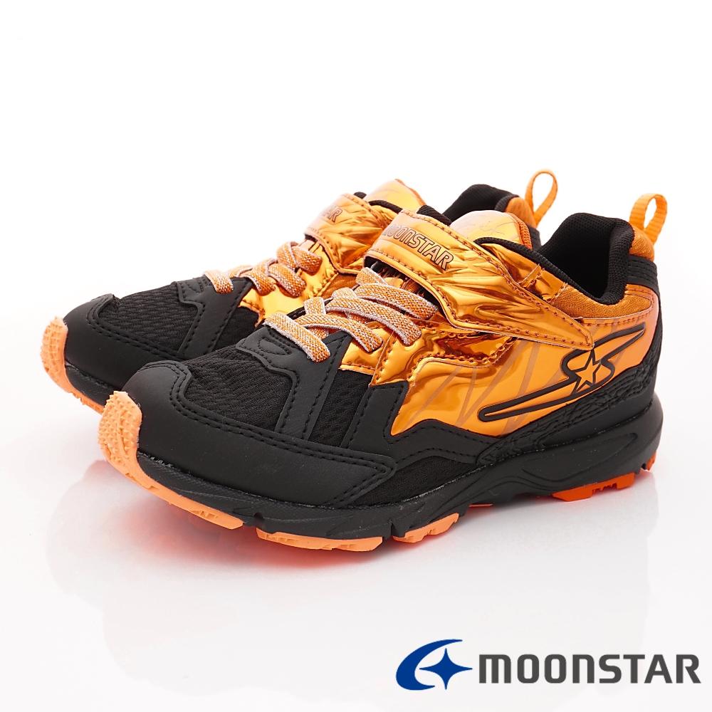 日本月星頂級競速童鞋 閃電競速2E系列 EI622橘黑(中大童段)