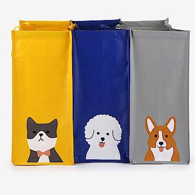Dailylike 3入防水回收分類袋-02 狗狗