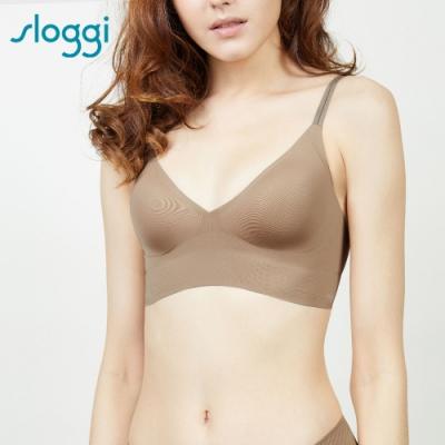 sloggi BODY ADAPT-Bralette 體貼適形無鋼圈背心型內衣 M-EEL 琥珀棕 88-332 CM