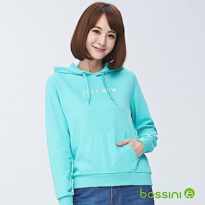 bossini女裝-連帽厚棉T恤01薄荷綠