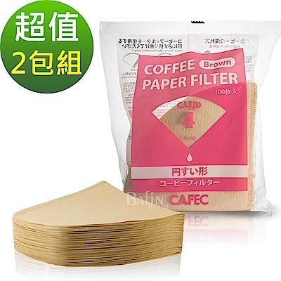 日本三洋 1-4人份無漂白錐型濾紙200張(CC4-100B)