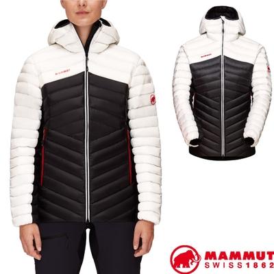 長毛象 女新款 Broad Peak IN 輕量保暖防風防潑連帽羽絨外套.夾克_黑/紅