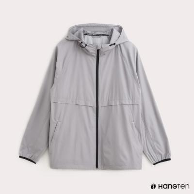 Hang Ten-ThermoContro-男裝薄夾克收納風衣外套-灰