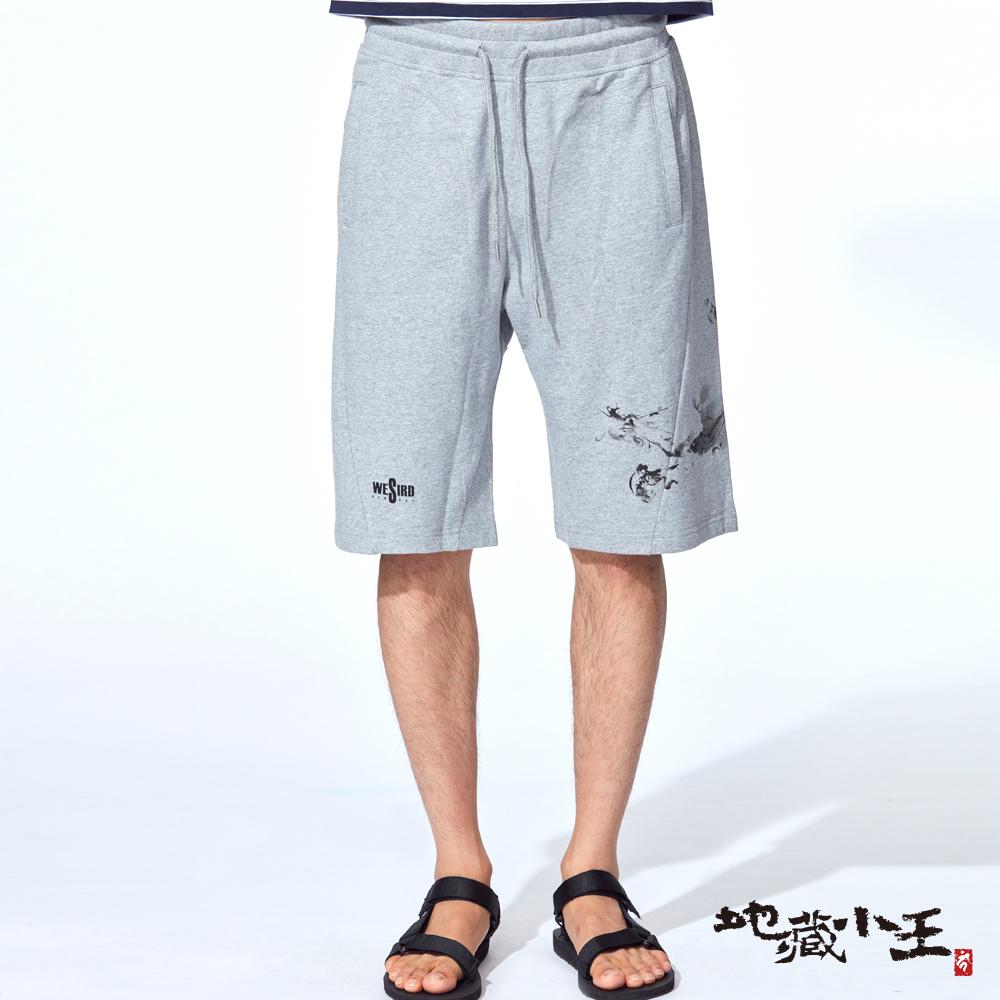 地藏小王 BLUE WAY 地藏墨龍棉質運動短褲(灰)