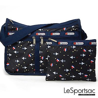 LeSportsac - Standard雙口袋A4大書包-附化妝包 (夢想起飛)
