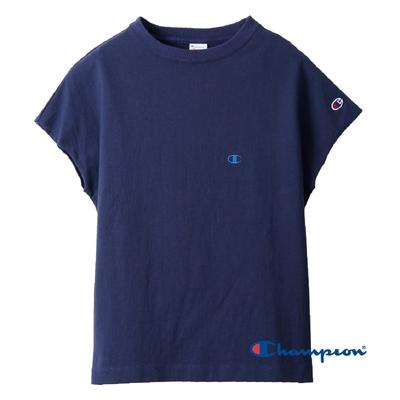 Champion Women s無袖Logo Tee(深藍色)