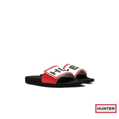 HUNTER - 女鞋-可調整拖鞋 - 黑