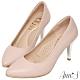 Ann'S優雅韻味-頂級小羊皮夾心電鍍銀跟尖頭鞋-粉 product thumbnail 1