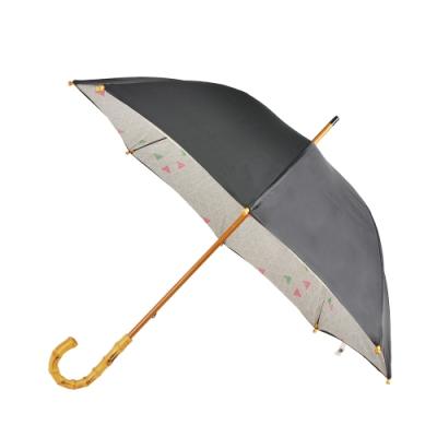 2mm 竹節精工風尚 晴雨兩用抗UV直傘(質感黑)