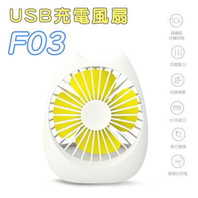 [Funlab] USB充電貓語超萌靜音風扇