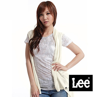 Lee 短袖開襟毛衣外套