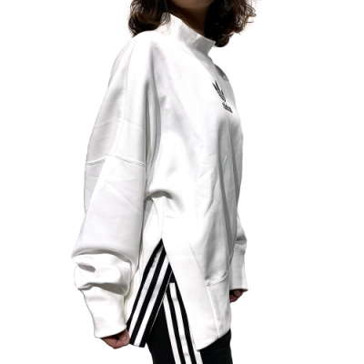 adidas BF L LOGO SWEAT 大學T 女 白
