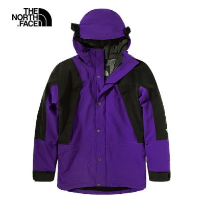 【經典ICON】The North Face北面男女款紫色防水透氣連帽衝鋒衣|4R52NL4