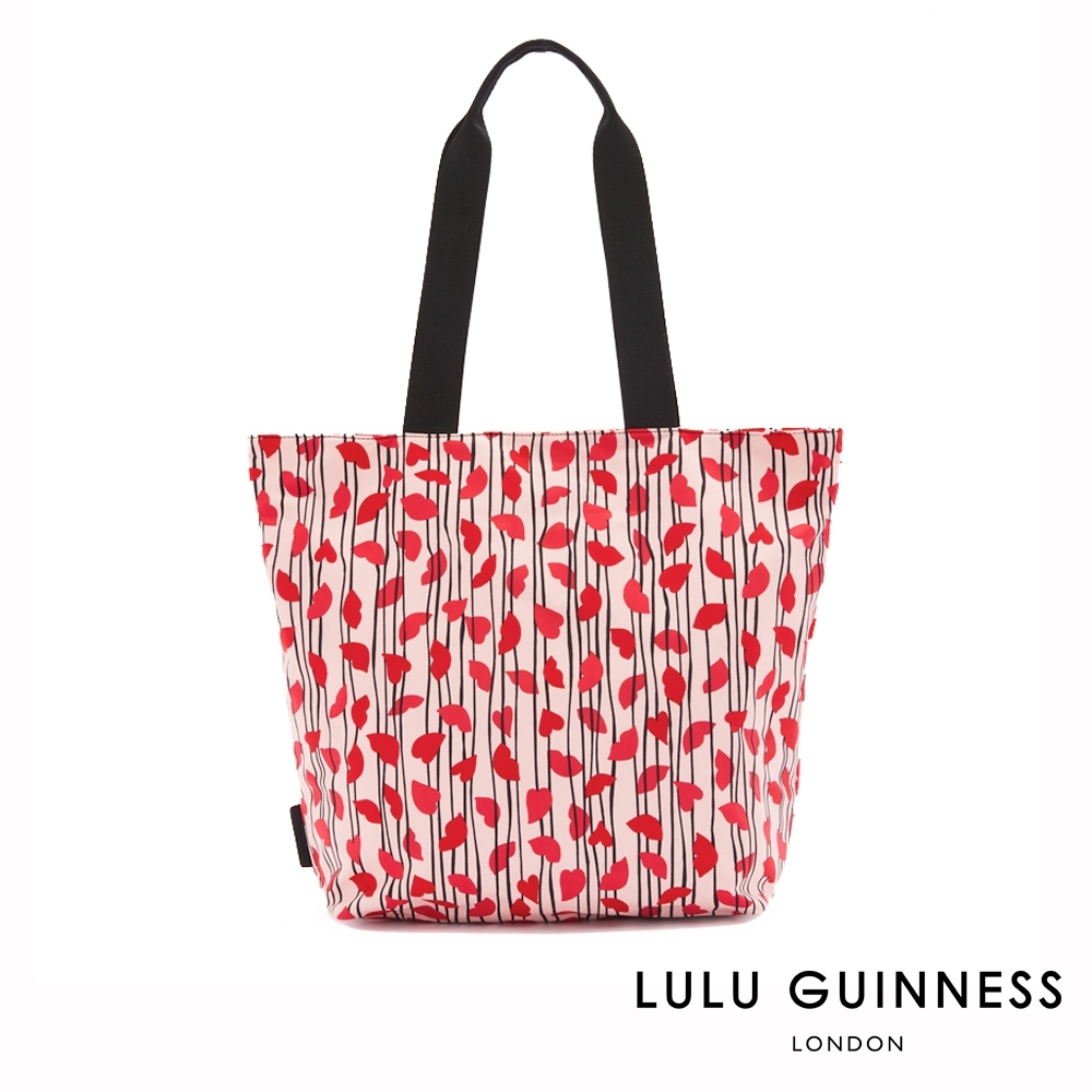 LULU GUINNESS BEA 托特包 (LIPS & HEART TRIPE) product image 1
