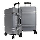 FILA 20吋碳纖維飾紋2代系列鋁框行李箱-月牙銀