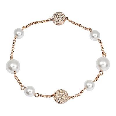 SWAROVSKI 施華洛世奇 Remix優雅水晶珍珠玫瑰金手鍊手環