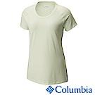 Columbia 哥倫比亞 女款-防曬50快排短袖上衣-薄荷綠UAK16560MT