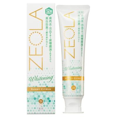 日本 Zettoc ZEOLA閃亮全效美白牙膏-美白柑橘 95g
