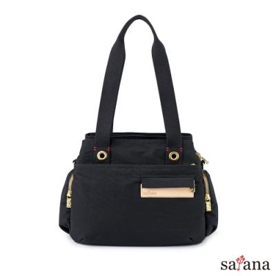 satana - Soldier 心的開始多隔層手提包 - 黑色