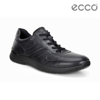 ECCO IRVING 質感舒適皮革休閒鞋 男鞋-黑