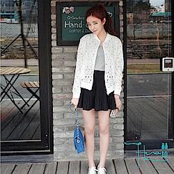 Lockers 木櫃 蕾絲鏤空短款防曬外套
