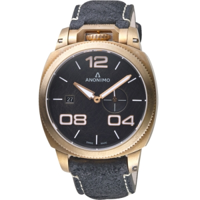 Anonimo Militare 義式軍風機械腕錶-迷霧黑x青銅/43.4mm