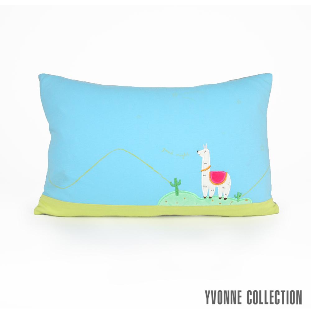 Yvonne Collection 羊駝星星抱枕(30x45cm)-藍