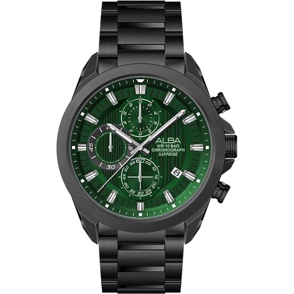 ALBA 雅柏 計時多功能腕錶-43MM綠面(VD57-X187G AM3819X1)