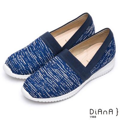 DIANA 輕。愛的--輕量雙色漸層休閒鞋-米x深藍