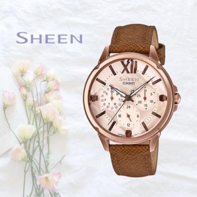 CASIO卡西歐 優雅細膩腕錶(SHE-3056PGL-7A)