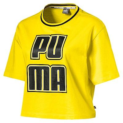 PUMA-女性基本系列Rebel Reload短袖T恤-鮮亮黃-歐規