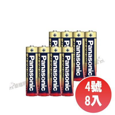 國際牌 Panasonic 新一代大電流鹼性電池 (四號8顆)