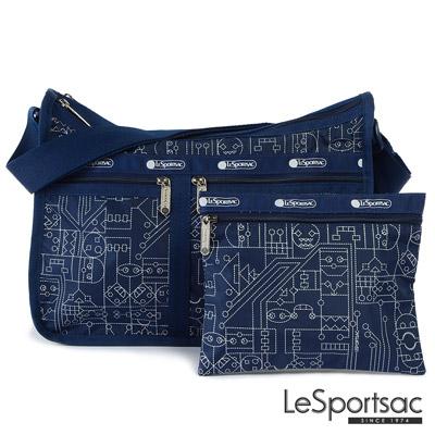 LeSportsac - Standard雙口袋A4大書包-附化妝包 (膠帶男孩)