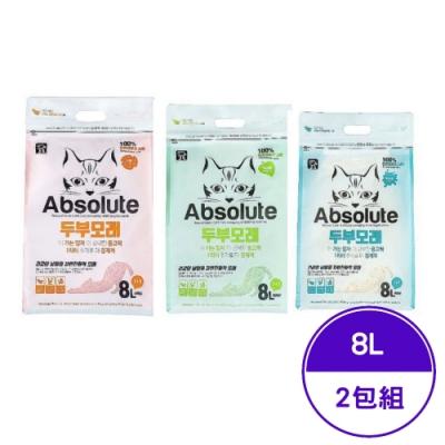 Absolute絕對喵豆腐砂系列 8L (2包組)