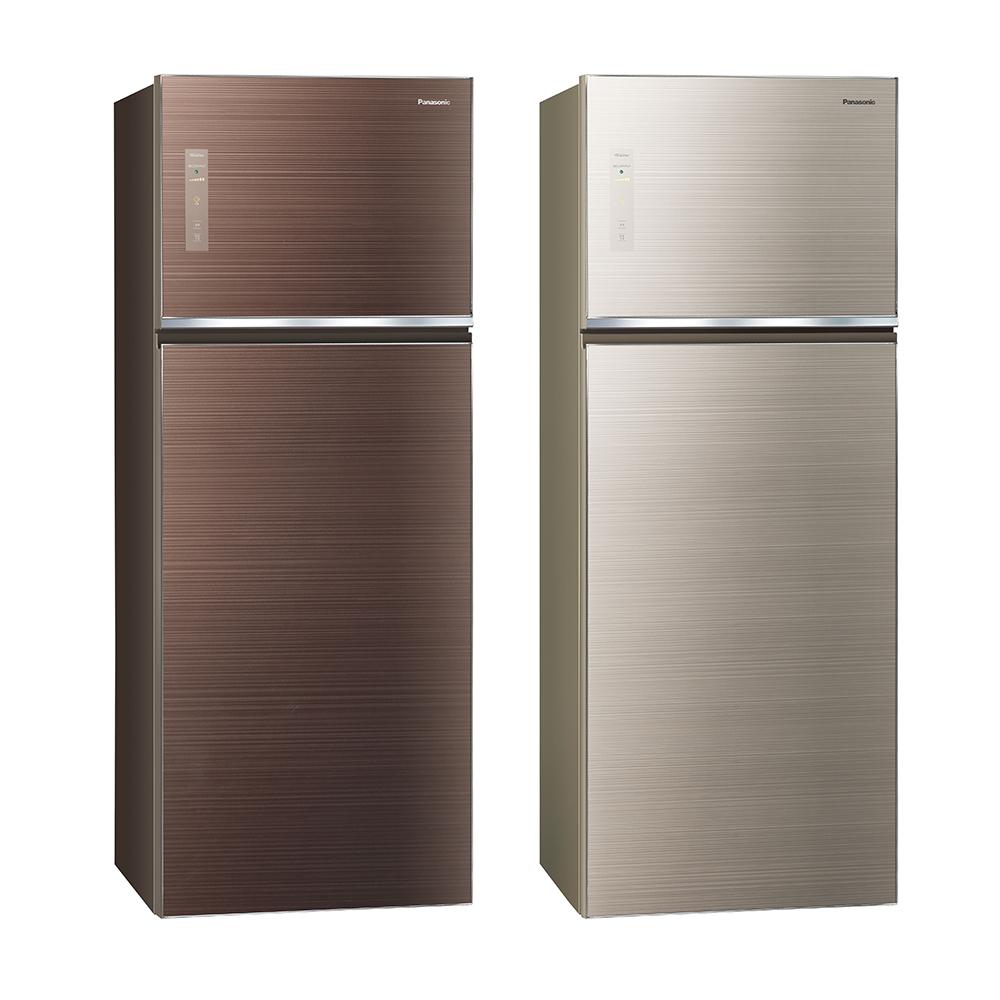 [無卡分期12期]Panasonic國際牌 485L 1級變頻2門電冰箱 NR-B489TG