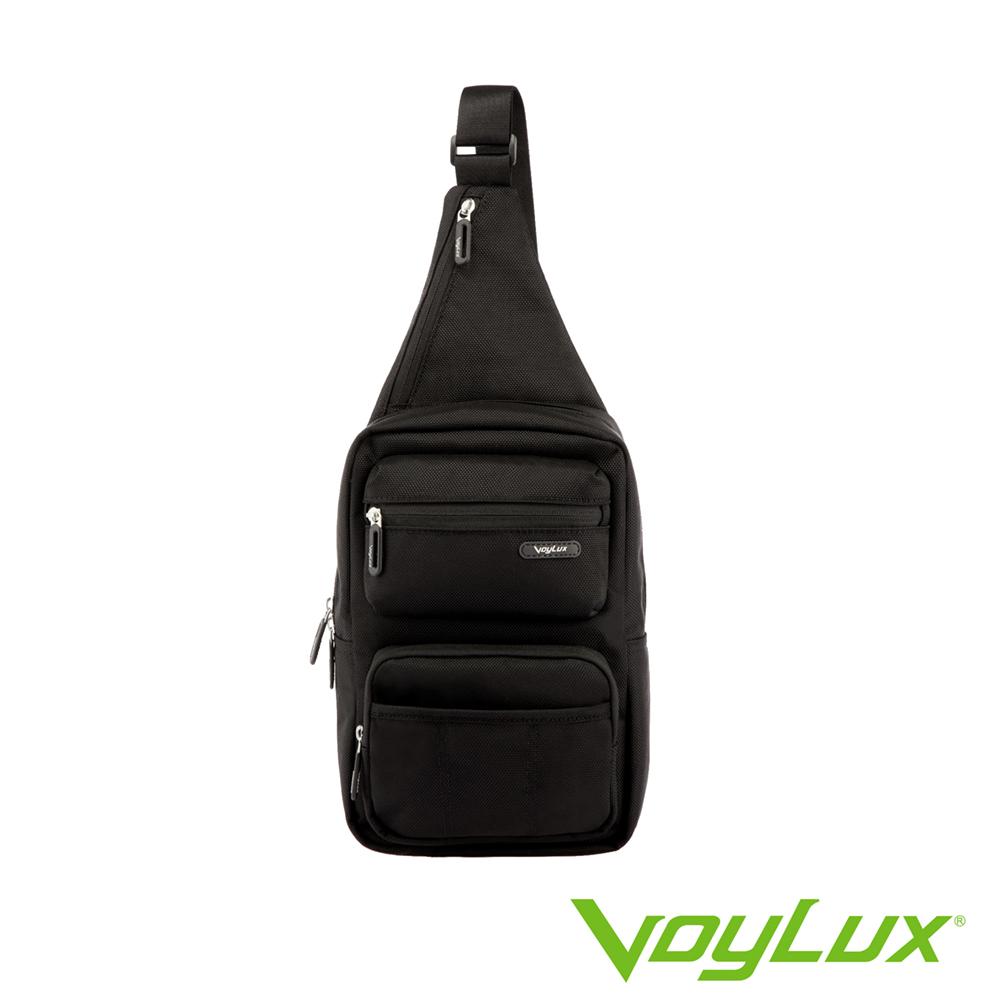 VoyLux 伯勒仕- 魔術收摺系列粗丹尼跨身直式肩背包-黑色3684104