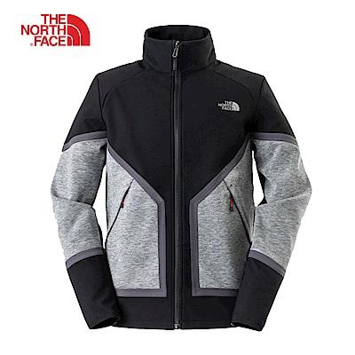 The North Face北面男款黑灰撞色防水透氣風衣|3L8GGAN