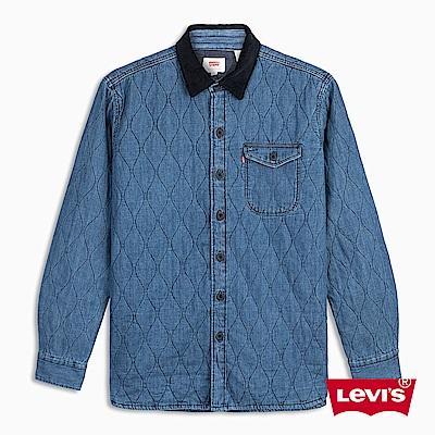 Levis 男款 襯衫外套 單口袋 菱格紋