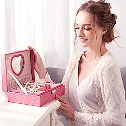 梨花HaNA 女孩兒的甜蜜質感居家首飾盒珠寶盒收納