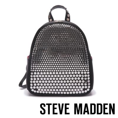 STEVE MADDEN-BSAINT 經典潮流街頭鉚釘龐克後背包-黑色
