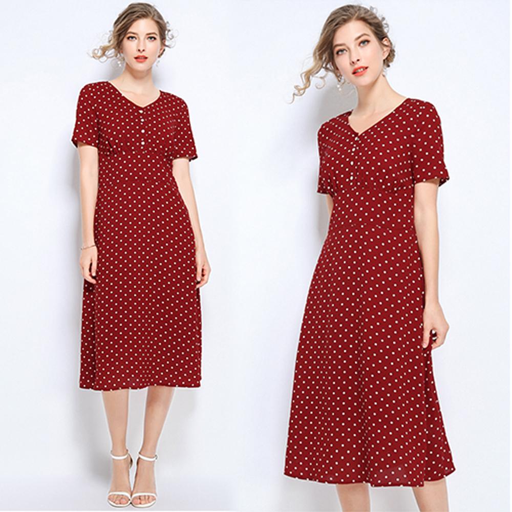 【KEITH-WILL】輕感吸晴暖甜心短袖洋裝