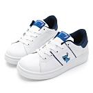 DISNEY 淘氣經典人物電繡休閒鞋-白藍-DW56031F